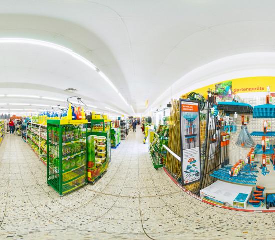 Baudi-Markt, Innenpanorama-Aufnahme