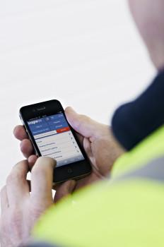 Smartphone-Bestellung Screwfix