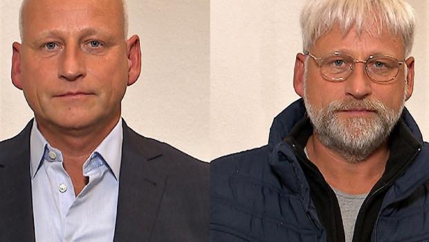 Die zwei Gesichert des Dirk Bader: der Landgard-Chef (l.) und der vermeintlich arbeitslosen Show-Kandidaten Alfred Bauer.