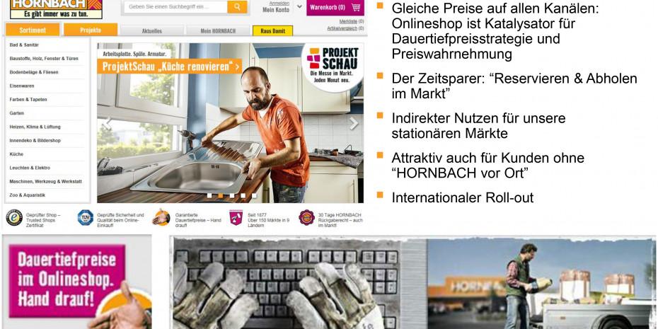 Hornbach Baumarkt, Online-Shop