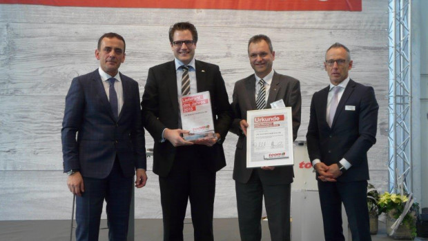 Auf der Hausmesse hat Toom Baumarkt seinen Lieferantenpreis vergeben. Auf Platz eins kam J. W. Ostendorf.