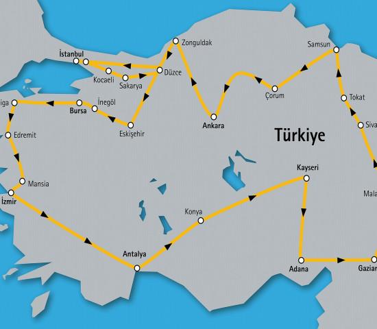 """60 Tage lang fährt demnächst der """"Hettich on Tour Truck"""" durch die Türkei."""