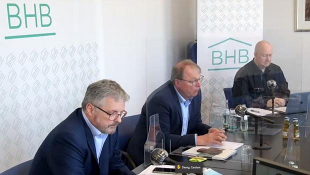 Der BHB präsentierte heute seine Umsatzzahlen für die Baumarktbranchen in Deutschland, Österreich und der Schweiz (v. l.): Dr. Peter Wüst, Franz-Josef Tepaß und Jörn Brüningholt.