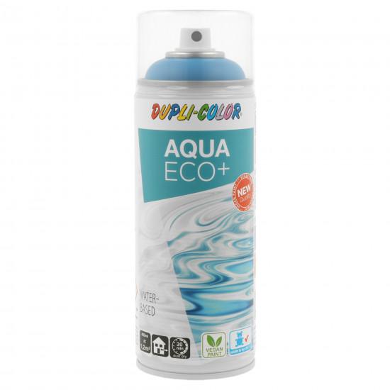 Piktogramme auf der Sprühflasche weisen auf die Vorteile des Produkts hin. So eignet sich Dupli-Color Aqua Eco+ für den Einsatz im Kinderzimmer, ist vegan und trocknet schnell.
