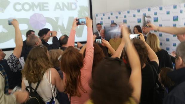 Großes Medieninteresse auf der gestrigen Pressekonferenz der Koelnmesse zur Spoga und Gafa in Lissabon.