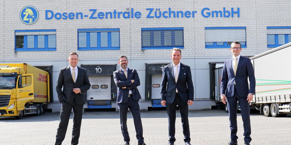 Kaufmännischer Leiter Werner Hansen (von links), Marketingleiter Ingo K. Thielen sowie Geschäftsführer und Firmeninhaber Fritz Züchner und Geschäftsführer Sven Claus blicken optimistisch in die Zukunft.