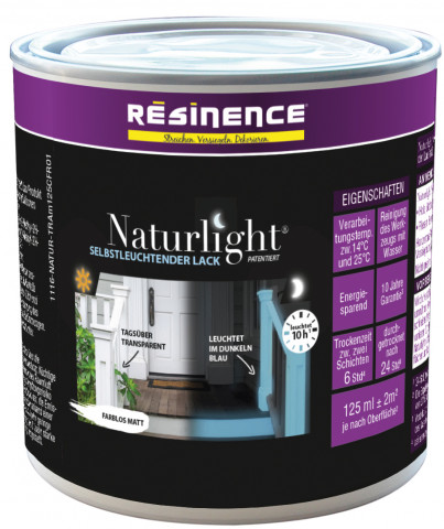 Die selbstleuchtende Farbe ist im 500- und 125-Milliliter-Gebinde erhältlich.