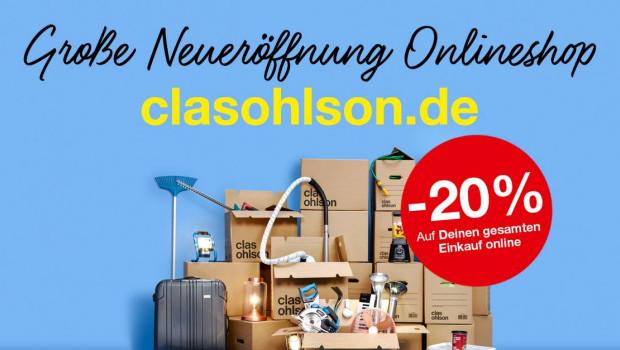 Clas Ohlson-Online-Shop ist deutschlandweit an den Start gegangen.