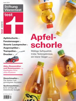 Zwischen Apfelschorle und Suchmaschinen: In Heft 4/2019 hat die Stiftung Warentest ihre Bewertungen von Akkurasenmähern veröffentlicht.