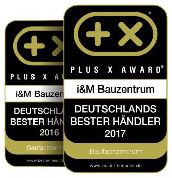 Preis für den besten Händler: I&M Bauzentrum erhält den Plus X Award.
