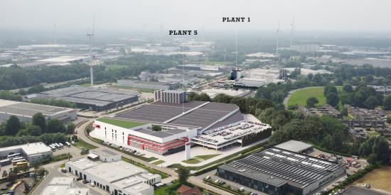 In Turnhout entsteht auf der Everdongenlaan das große Werk Plant 5, das die Produktionskapazität von Soudal am Hauptsitz in Belgien verdoppelt.
