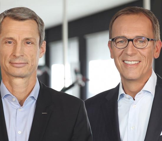 Das Metabo Vorstandsteam mit CEO Horst W. Garbrecht (rechts) und CFO Eric Oellerer bleibt an Bord.
