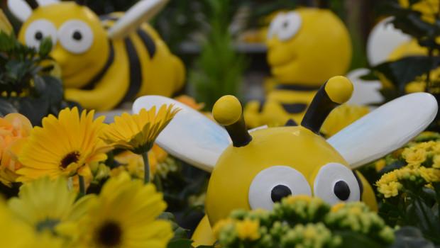 So hat man beispielsweise bei Pflanzen-Kölle das Thema Bienen umgesetzt.