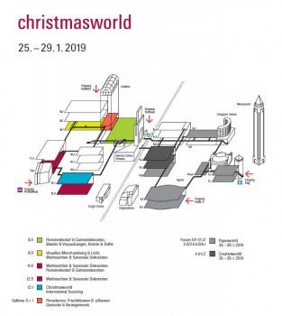 Das neue Hallenkonzept der Christmasworld.