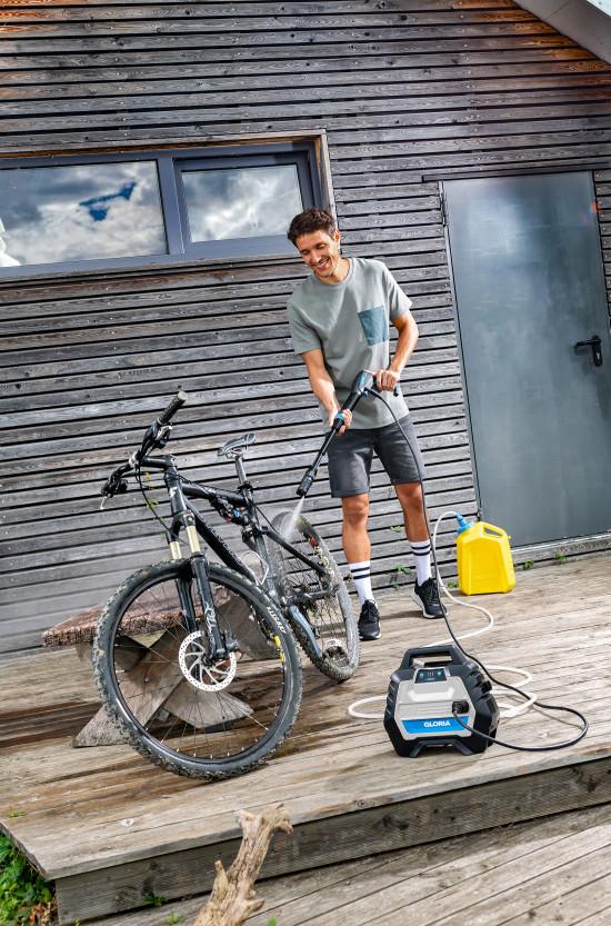 Beispiel Bike: Mit der MultiJet will Gloria ganz neue Zielgruppen im Freizeitbereich ansprechen.