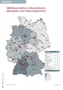 NBB-Baumärkte in Deutschland (Bauspezi und Verbundpartner). [Stand: 30.6.17]