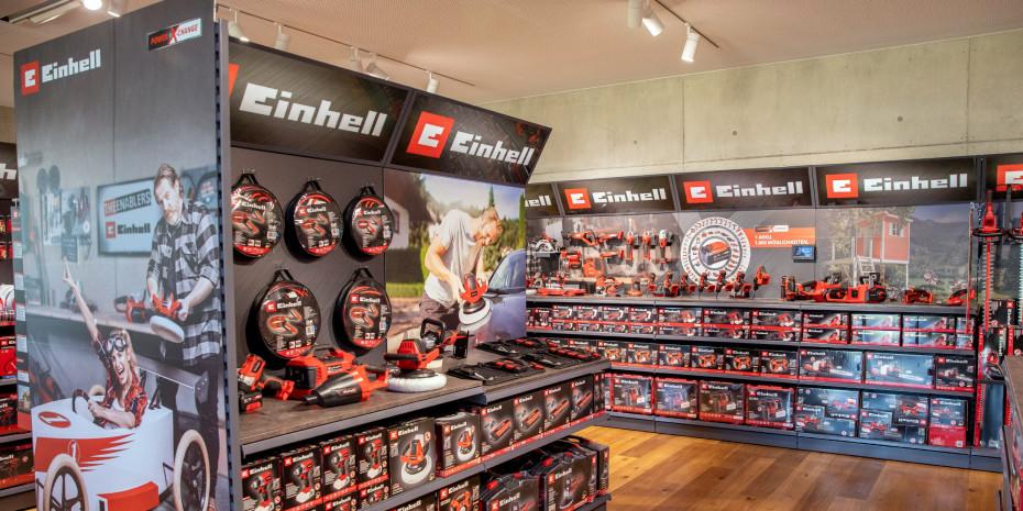 In der 2019 eingeweihten Einhell-Welt am Firmensitz in Landau an der Isar demonstriert das Unternehmen, wie es sichauf der Fläche präsentiert.