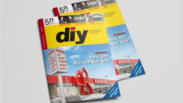 Die Februar-Ausgabe des Fachmagazins diy berichtet in seiner Titelgeschichte über den neuen Bauhaus-Markt in Reutlingen.