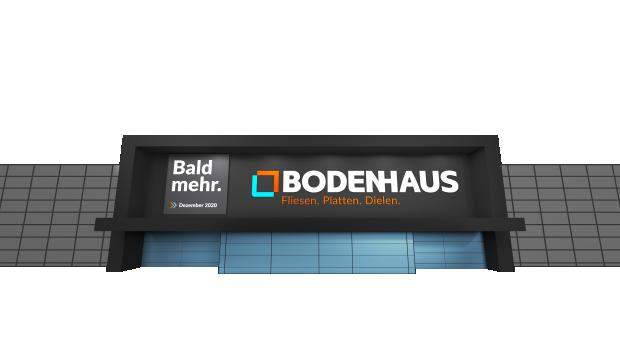 Noch ist es nur eine Darstellung, ab Ende 2020 wird Hornbach jedoch seinen ersten 9.000 m² großen Fachmarkt des neuen Fachhandelskonzepts Bodenhaus in Berlin-Schöneweide eröffnen.